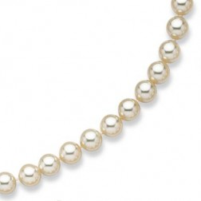 Collier de perles blanches de Majorque 10 mm pour femme - Ariel