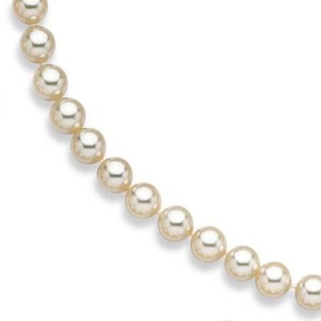 Collier de perles blanche de Majorque 10 mm pour femme - Ariel