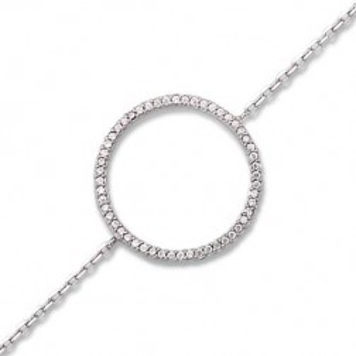 Bracelet cercle en zircon en argent pour femme - Rive Gauche