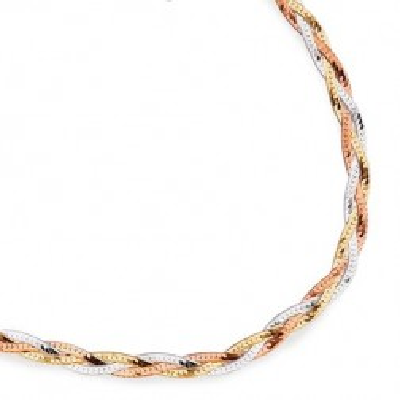 Bracelet en argent trois tons pour femme - Mélange argenté - Lyn&Or Bijoux
