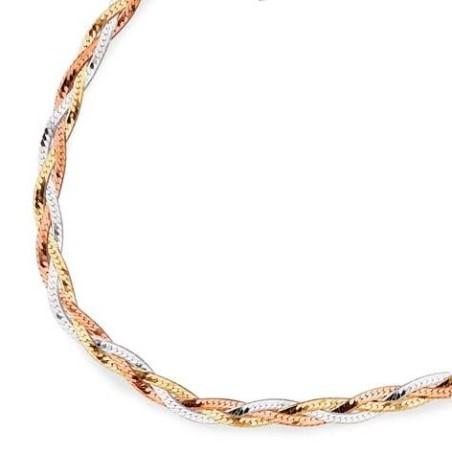 Bracelet en argent trois tons - Mélange argenté