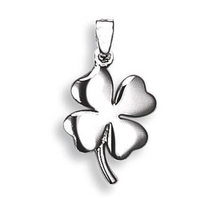 Pendentif trèfle à 4 feuilles en argent pour femme - Chance - Lyn&Or Bijoux