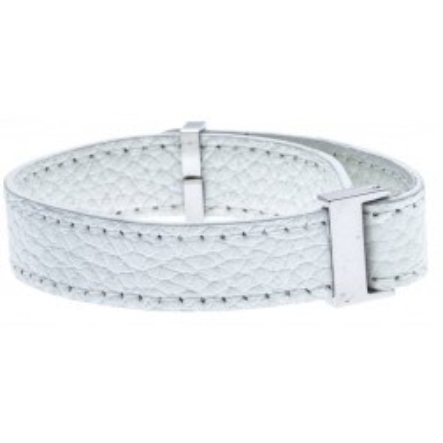 Bracelet Gamy's interchangeable en cuir blanc 1 cm