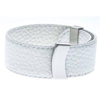 Bracelet Gamy's interchangeable en cuir blanc 2 cm