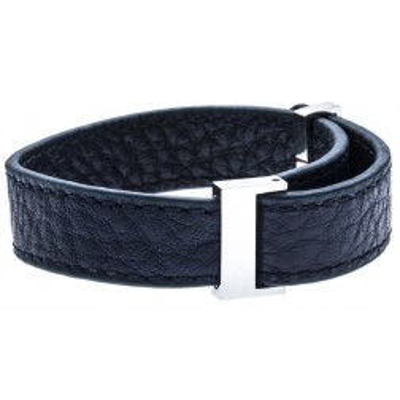 Bracelet Gamy's interchangeable en cuir bleu nuit 1 cm