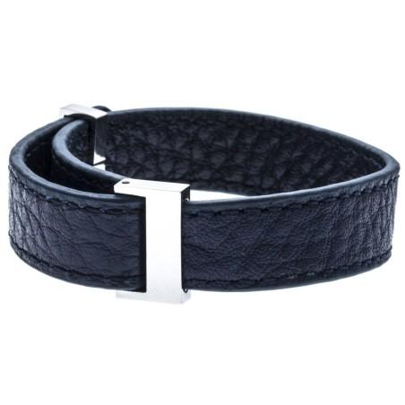 Bracelet Gamy's interchangeable cuir bleu nuit 1 cm
