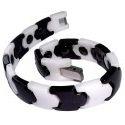 Bracelet céramique noir et blanc pour femme, Bianca