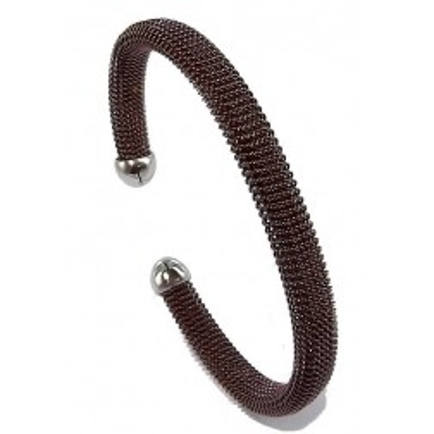 Bracelet jonc en acier marron - Chocolat