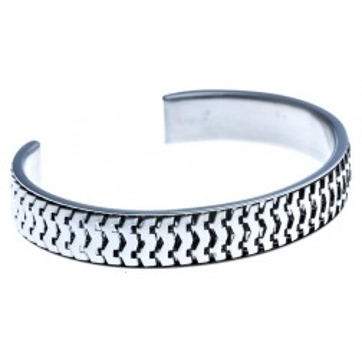 Bracelet tendance femme: jonc en acier inoxydable pour femme