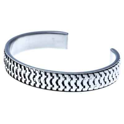 Bracelet jonc en acier inoxydable pour femme - Nikka - Lyn&Or Bijoux