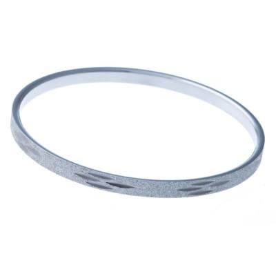 Bracelet jonc en acier diamanté pour femme - Chika - Lyn&Or Bijoux