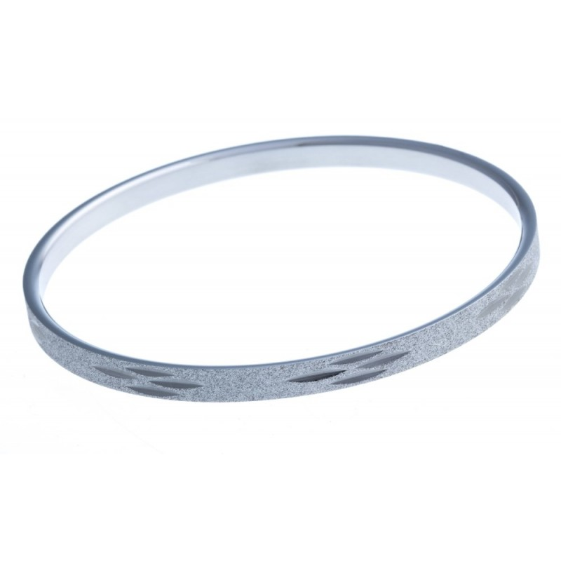 Bracelet jonc acier diamanté pour femme, Chika