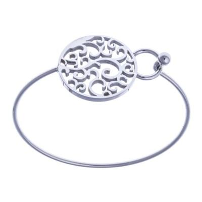 Bracelet jonc en acier inoxydable pour femme - Compil - Lyn&Or Bijoux
