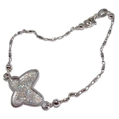 Bracelet papillon cristal et en argent rhodié pour femme, Slimy
