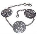 Bracelet Arbre de Vie en argent 925 rhodié pour femme, Vital