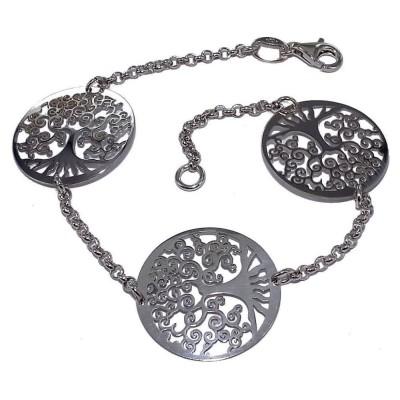 Bracelet Arbre de Vie en argent rhodié - Vital
