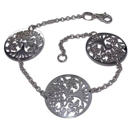 Bracelet Arbre de Vie argent rhodié pour femme, Vital