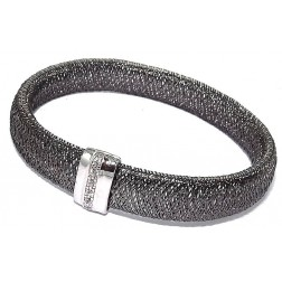 Bracelet extensible en argent et zirconium pour femme - Bonheur - Lyn&Or Bijoux