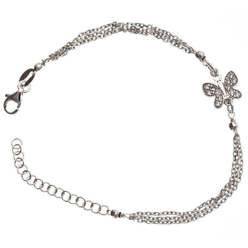 Bracelet papillon en argent et zircone pour femme - Misty - Lyn&Or Bijoux