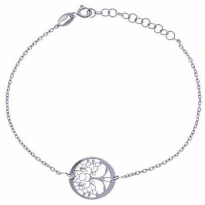 Bracelet Arbre de Vie en argent rhodié - Foly