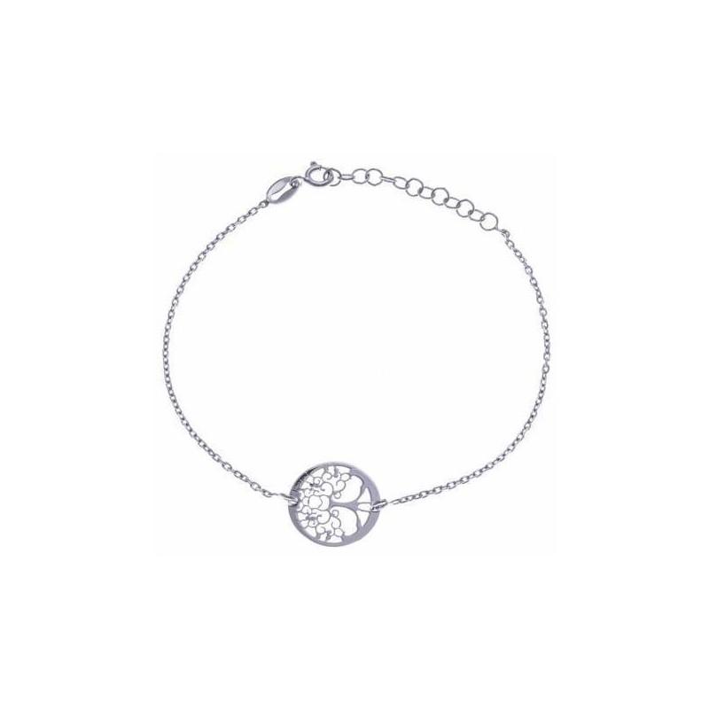 Bracelet Arbre de Vie en argent rhodié pour femme - Foly - Lyn&Or Bijoux