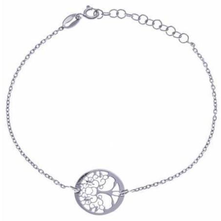Bracelet Arbre de Vie en argent 925 millièmes rhodié, Foly