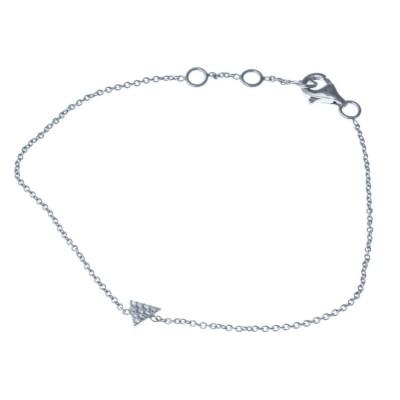 Bracelet argent 925 rhodié et oxyde de zirconium pour femme, Tryana