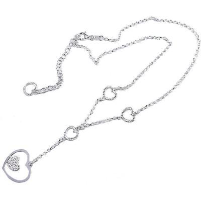 Collier coeur argent 925/1000 pour femme, Myra
