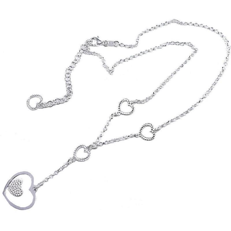 Collier & pendentif coeurs en argent 925 pour femme - Myra - Lyn&Or Bijoux