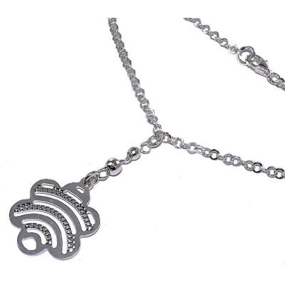 Collier & pendentif fleur en argent 925 pour femme - Foly - Lyn&Or Bijoux