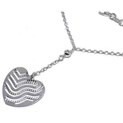 Collier & pendentif coeur en argent 925 pour femme - Foly - Lyn&Or Bijoux