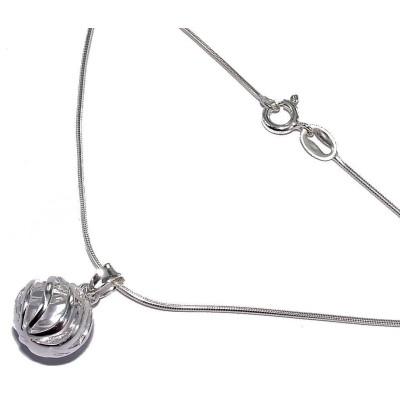 Collier & pendentif perle en argent 925 pour femme - Chyrra - Lyn&Or Bijoux