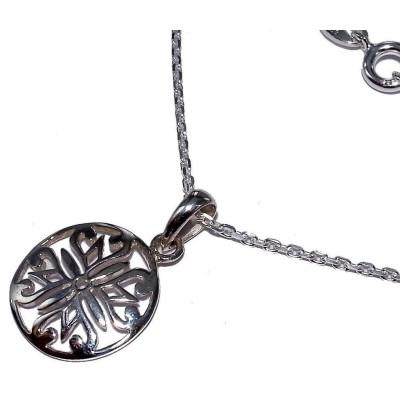 Collier argent 925/1000 pour femme, Blason