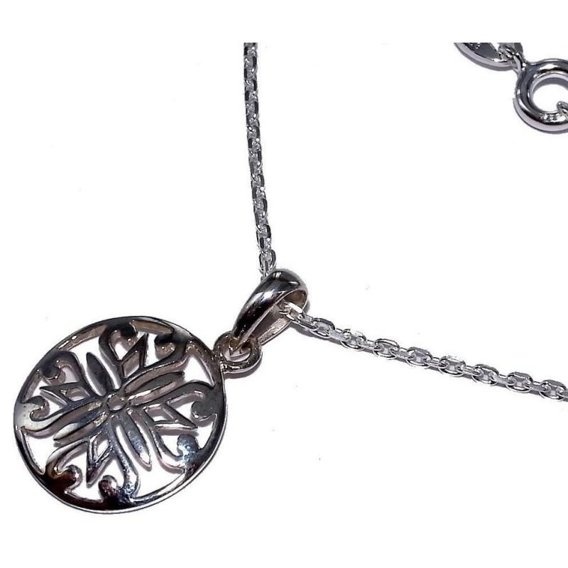 Collier & pendentif en argent 925 millièmes pour femme - Blason - Lyn&Or Bijoux