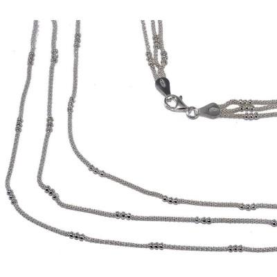 Collier de perles en argent 925 millièmes pour femme, Salsa