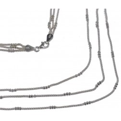 Collier de perles argent 925 pour femme, Salsa