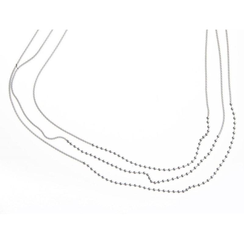 Collier de perles en argent 925 millièmes pour femme, Samba