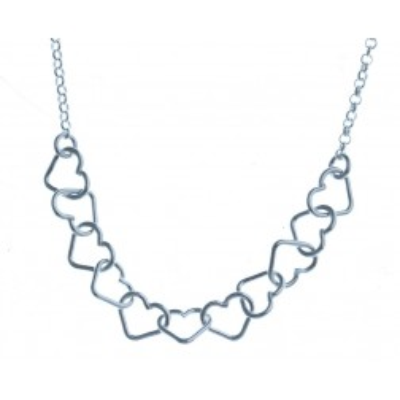Collier coeur argent 925/1000 pour femme, Carambole
