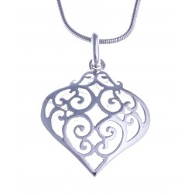 Collier & pendentif coeur en argent 925 pour femme - Filana - Lyn&Or Bijoux