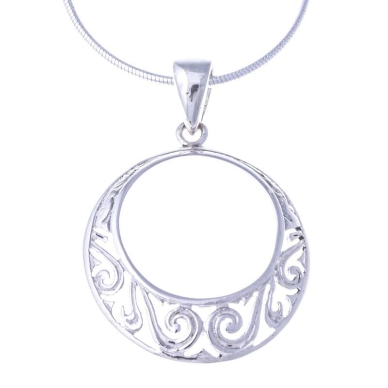 Collier & pendentif en argent 925/1000 pour femme - Tentation - Lyn&Or Bijoux