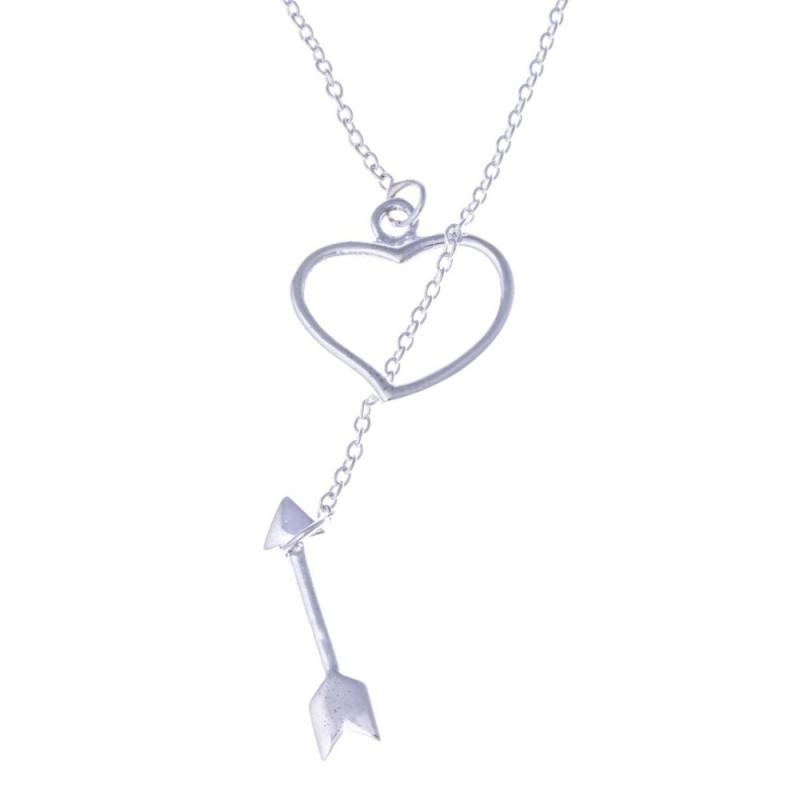 Collier & pendentif coeur en argent 925 pour femme - Cali - Lyn&Or Bijoux