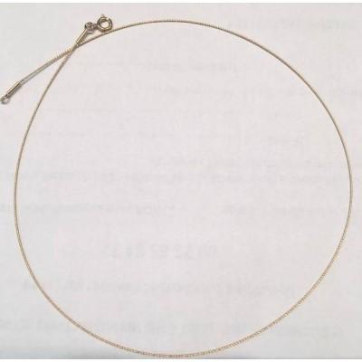 Collier ras-de-cou câble or jaune 18k pour femme, 0,8 mm