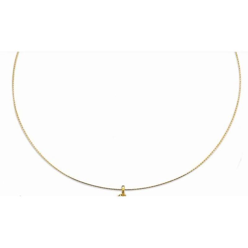 Collier câble fin pour femme en or jaune 18k