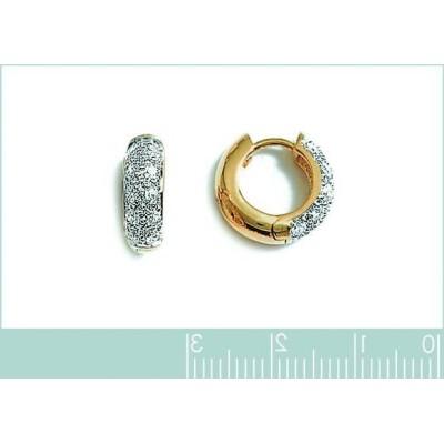 Boucles d'oreilles créoles brillantes en plaqué or pour femme