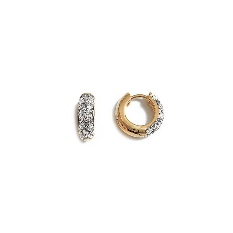 Créoles femme, plaqué or & oxyde de zirconium, Sourire - Lyn&Or Bijoux