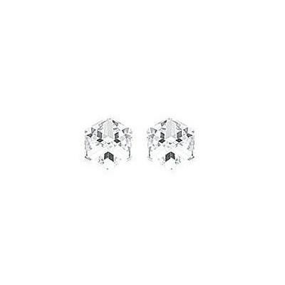 Boucles d'oreilles Cubes en cristal blanc