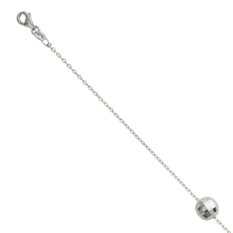 Bracelet pour femme avec Sphère en argent 925 millièmes brillant