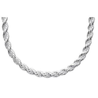 Chaîne pour collier en mailles Corde en argent 925 millièmes 4 mm