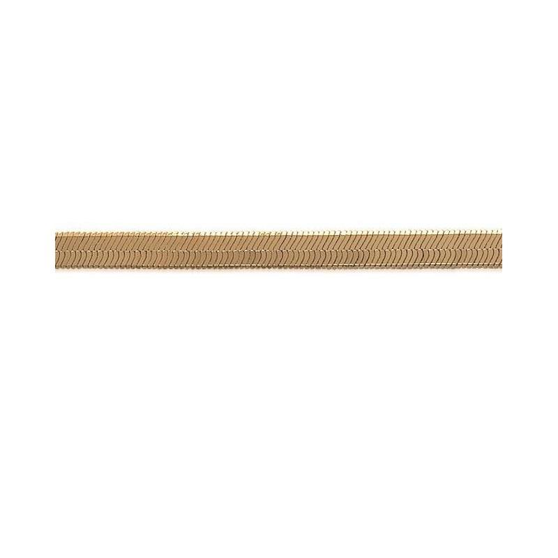 Chaîne Serpent plat plaqué or pour femme - 4 mm - Lyn&Or Bijoux