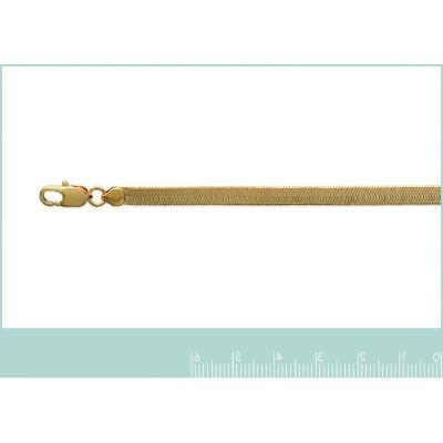 Chaîne serpent plat en plaqué or pour femme - Bijou collier incontournable